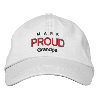 PROUD GRANDPA Personalized Adjustable Hat V07 Embroidered Hat