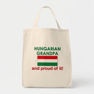 Proud Hungarian Grandpa Grocery Tote Bag