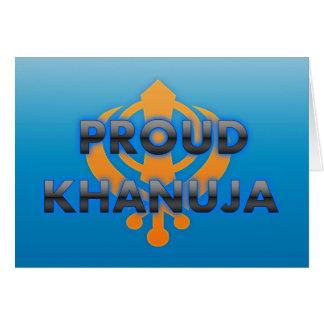 Proud Khanuja, Khanuja pride Greeting Cards