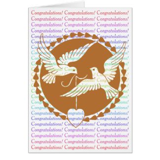 Proud Love Doves Gay Wedding Congratulations Greeting Card