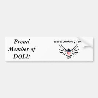 Proud Member Bumper Car Bumper Sticker