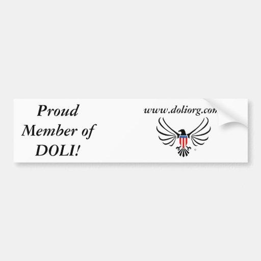 Proud Member Bumper Bumper Sticker