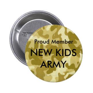 Proud Member, NEW KIDS ARMY - Desert Camo Pin