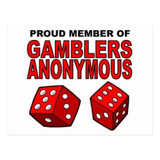 Proud Member of Gamblers Anonymous Post Card