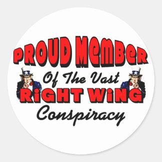 Proud Member Round Sticker