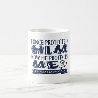 Proud Military Parent Navy Dad Coffee Mug