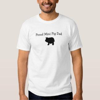 Proud Mini Pig Dad Tshirts