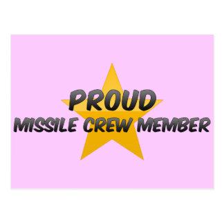 Proud Missile Crew Member Post Card