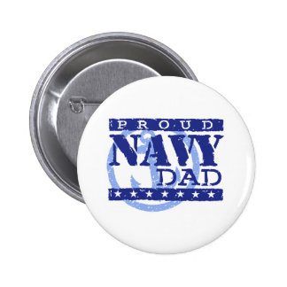 Proud Navy Dad Pinback Buttons