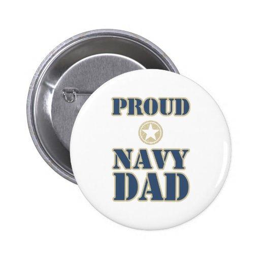 Proud Navy Dad Pinback Button