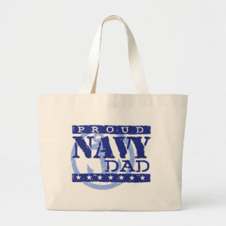 Proud Navy Dad Canvas Bags