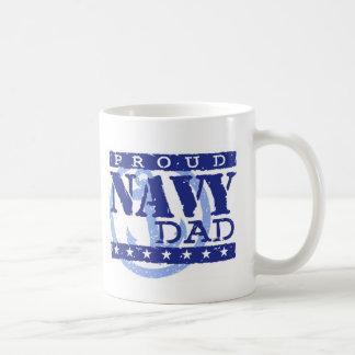 Proud Navy Dad Basic White Mug