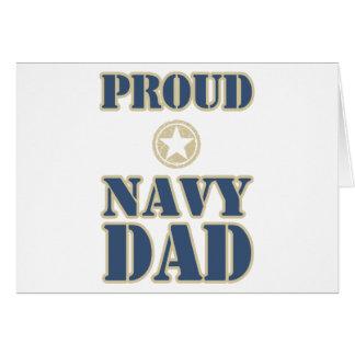 Proud Navy Dad Greeting Card