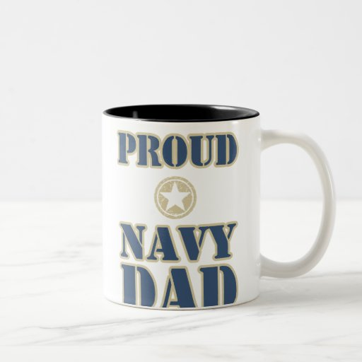 Proud Navy Dad Coffee Mug
