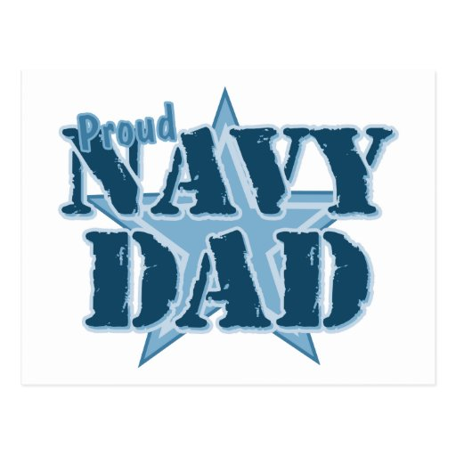 Proud Navy Dad Post Card