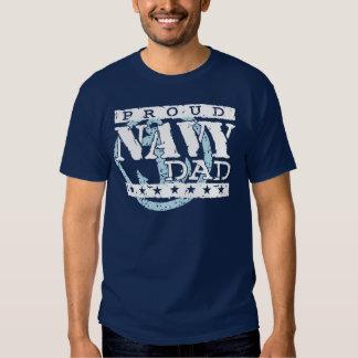 Proud Navy Dad Tee Shirts