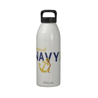Proud NAVY DAD Water Bottles