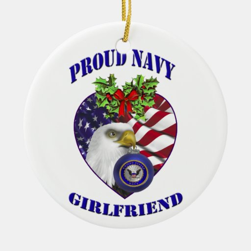 Proud Navy Girlfriend Christmas Ornament