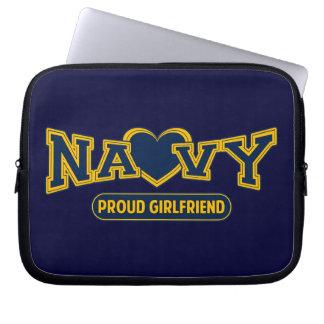 Proud Navy Girlfriend Computer Sleeves