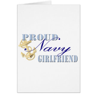 Proud Navy Girlfriend Greeting Card