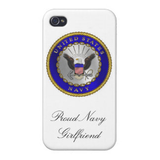 """Proud Navy Girlfriend"" iPhone 4/4s case"