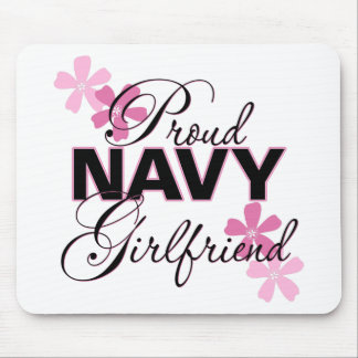 Proud Navy Girlfriend Mouse Pad