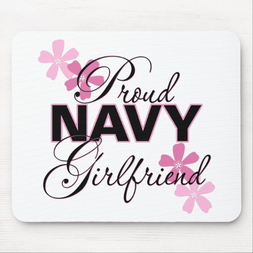 Proud Navy Girlfriend Mouse Pads