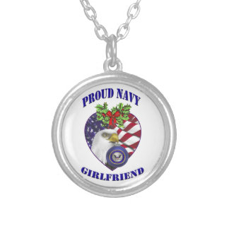 Proud Navy Girlfriend Necklace