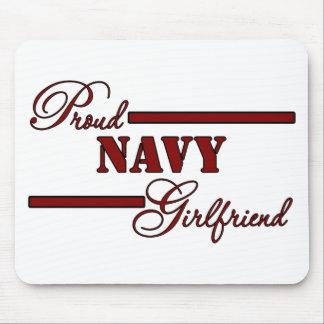 Proud Navy Girlfriend (Red N Black) Mouse Pad