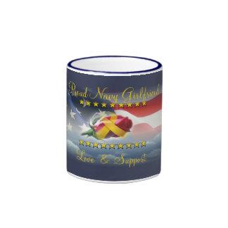 Proud Navy Girlfriend Ringer Mug