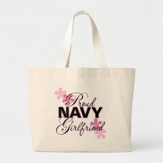 Proud Navy Girlfriend Jumbo Tote Bag