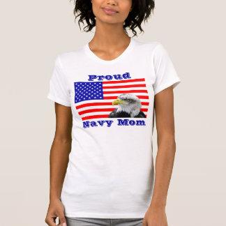 Proud Navy Mom Flag T Shirt