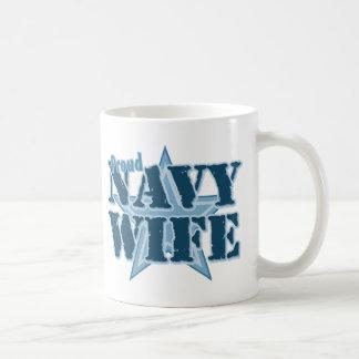 Proud Navy Wife Basic White Mug