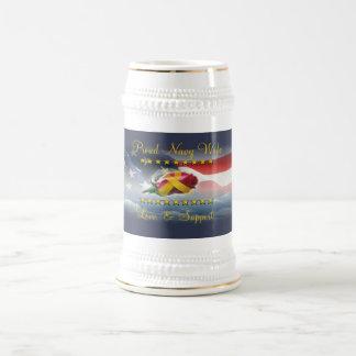 Proud Navy Wife Beer Steins