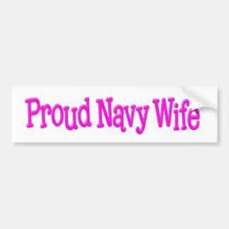 Proud Navy Wife Bumper Stickers