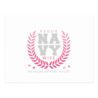 Proud Navy Wife Crest Post Card