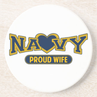 Proud Navy Wife Drink Coasters