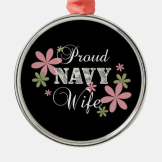 Proud Navy Wife [fl c] Christmas Ornament