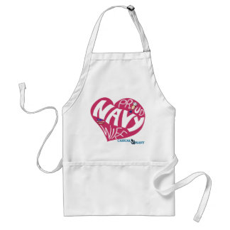 Proud navy wife - Maroon Apron