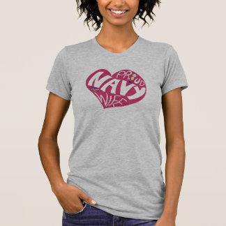 Proud navy wife - Maroon V-neck T-Shirt