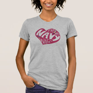 Proud navy wife - Maroon V-neck T Shirts