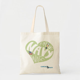 Proud navy wife - Olive Olive Tote Budget Tote Bag