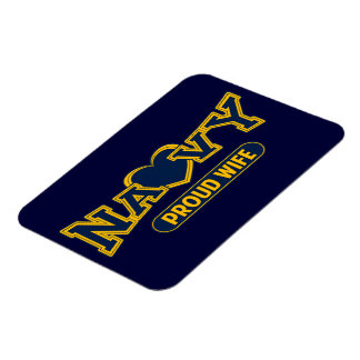 Proud Navy Wife Rectangle Magnets