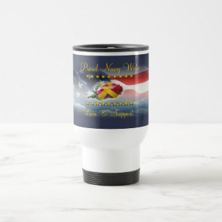 Proud Navy Wife Stainless Steel Travel Mug