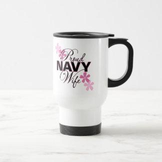 Proud Navy Wife Stainless Steel Travel Mug