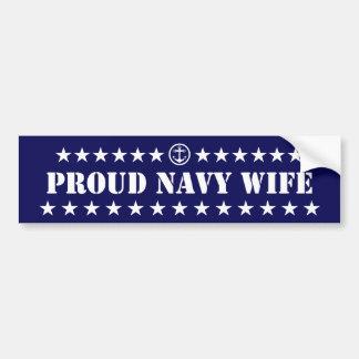 Proud Navy Wife Stars Bumper Sticker