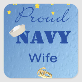 Proud Navy Wife Stickers