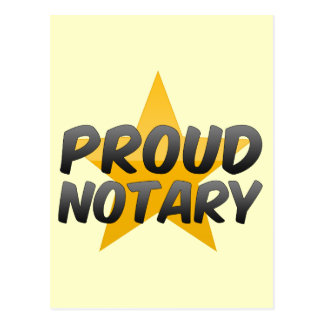 Proud Notary Postcards