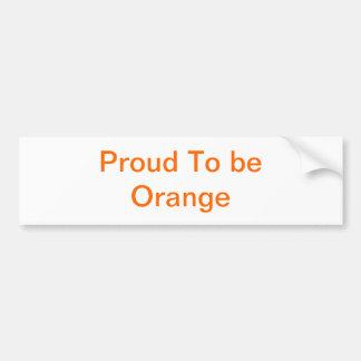 Proud Orange! Bumper Sticker