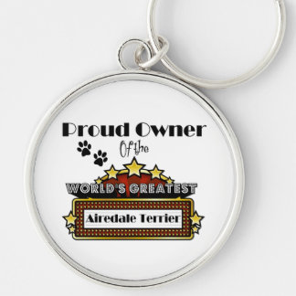 Proud Owner World's Greatest Airedale Terrier Key Ring